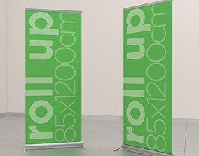 3D model Roll Up Rollup Marketing Brand Branding Sales
