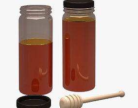 Honey Jar 002 3D asset
