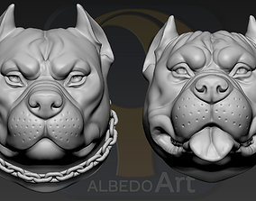 3D printable model Pitbull Head