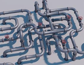 3D asset realtime Modular Pipes set
