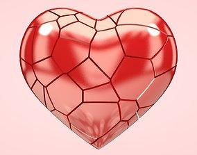 3D asset abstract Shattered Heart