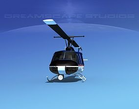 3D model Bell 204 Ashley Aviation