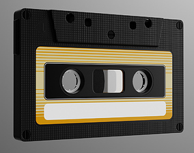 Analog Cassette Audio Tape 3D model