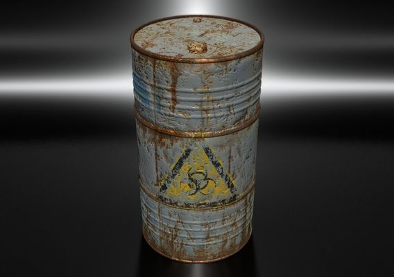 Old Blue Barrel