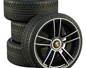 Porsche wheels 3D model luxury