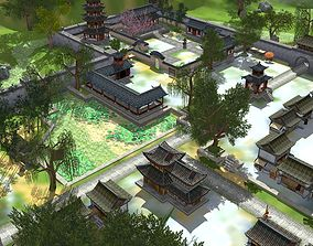 3D asset a very beautiful ancient chinese scene