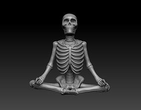 Meditating Yoga Skeleton 3D printable model