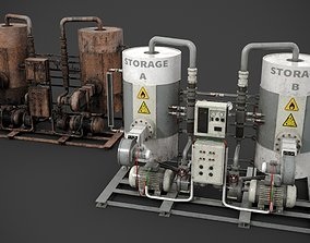 3D model PBR Industrial device