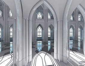 3D Cathedral Interior Futuristic