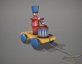 Red Drummer Boy Toy 3D asset