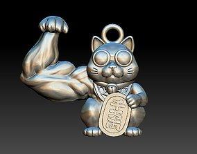 maneki neko beckoning funny cat pendant 3d print