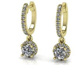 3D print model Unique Diamonds earrings 166