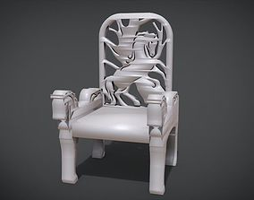 3D print model Unique Chair with a Horse Ornament