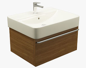 3D asset game-ready Modern Bathroom Sink 001