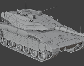 3D Merkava Mk IV - Battle Tank