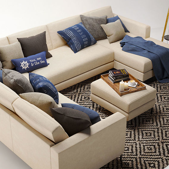 Furniture Visualization | Pottery Barn Jake sofa set #2