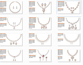 50 Women necklace-earrings set jcd render 3D print model