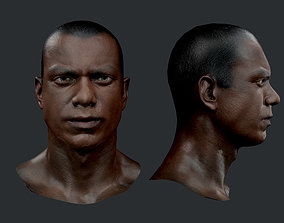 3D asset Male Human Character Head Game Ready