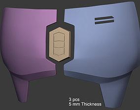 3D print model Mandalorian Chest Armor Plates with 1