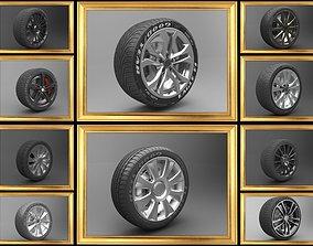 Realistic Tire Wheel SET 3D PBR