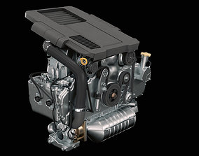 3D model Car Engine racing