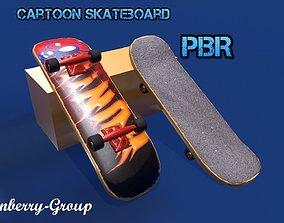 Cartoon Skateboard 3D model