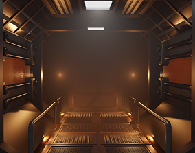 3D asset Sci-fi corridor