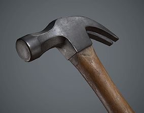 Hammer 3D asset VR / AR ready PBR