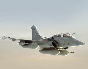 Rafale French fighter 3D model