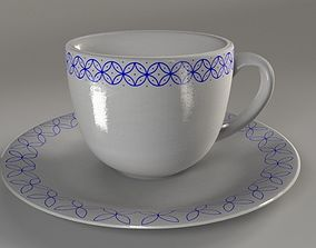 Classic Coffee Cup PBR mid poly Mid-poly 3D model PBR