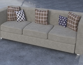 modern free Sofa-couch for blender 3D model