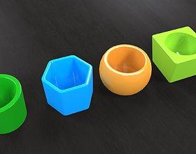 3D print model Standart flower-pots pack1