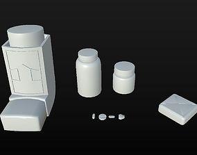 3D model low-poly Clean Medecine Set D180302