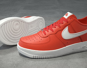 Nike Air Force 1 low team orange 3D asset