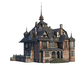 low-poly Old Manor Low-poly 3D model