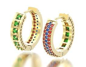 Earring lot gems 3D print model