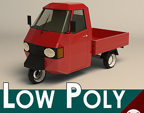 3D model Low Poly Three Wheeled Pickup 02