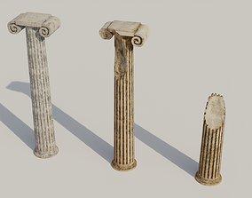 game-ready Antique column 3D models
