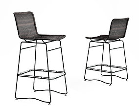 Holly Hunt Pelican bar stool and counter stool 3D model