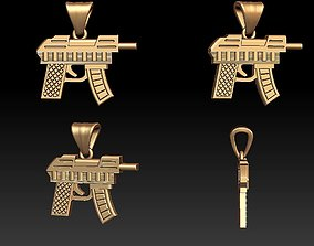 Gun pendant 3D printable model