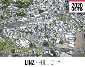 3D model Linz- city and surroundings