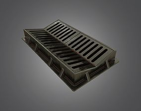 Sewer Grate - 4K PBR Game Ready 3D asset