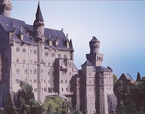 Castle Low Poly Schloss Neuschwanstein 3D asset