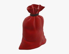 Christmas gift bag Santa Claus 01 3D model