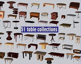 Tables Low Polly 3d models game-ready