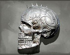 3D printable model Punk Skull Wall Decor