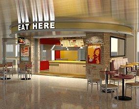 Fast Food Kiosk 3D