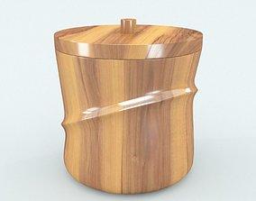 3D asset Wooden Ice Bucket