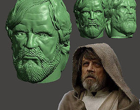 3D print model LAST JEDI OLD LUKE HEAD FOR FIGURES V1