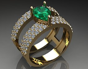 women ring gold zeegold 3D printable model